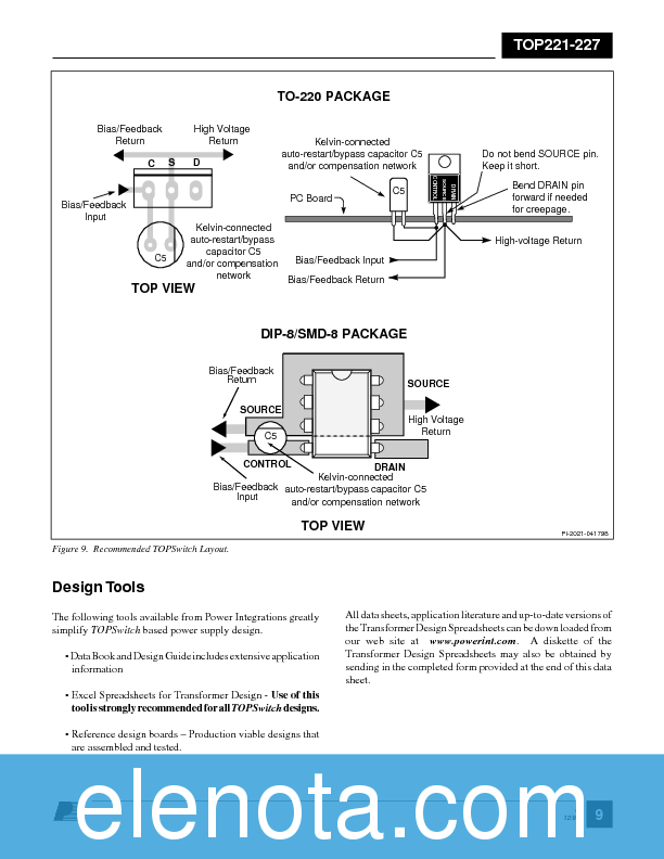 Datasheet) top227y pdf top221-227 topswitch-®ii family three.